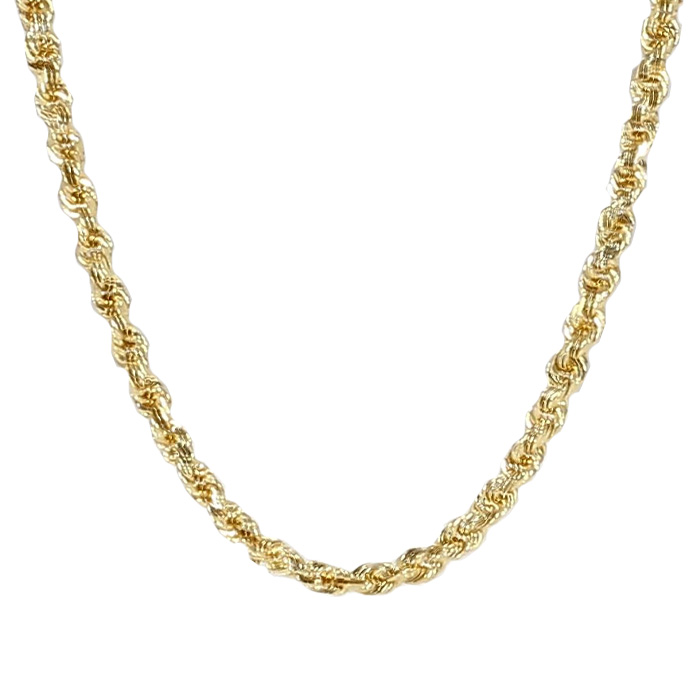 ROPE NECKLACE- 14K YELLOW GOLD| 3.6G| LENGTH 16"