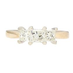 "DIAMOND ENGAGEMENT RING- 14K YELLOW GOLD  4.2G  1.00CT TDW  SIZE 7"""