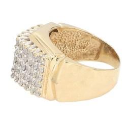 "DIAMOND RING- 14K YELLOW GOLD| 6.9G| 2.00CT TDW| SIZE 6"""