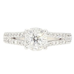 "DIAMOND ENGAGEMENT RING- 14K WHITE GOLD| 4.5G| 1.00CT TDW| SIZE 7.25"""
