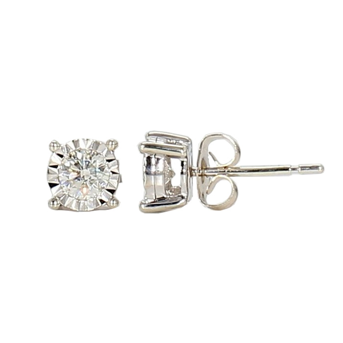 DIAMOND STUD EARRING- 10K WHITE GOLD| 1.0G| 0.54CT TDW