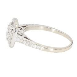 "DIAMOND ENGAGEMENT RING- 14K WHITE GOLD| 2.8G| 1.00CT TDW| SIZE 6"""