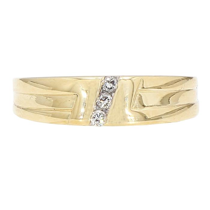 "DIAMOND WEDDING BAND- 14K YELLOW GOLD| 4.6G| 11.75"""