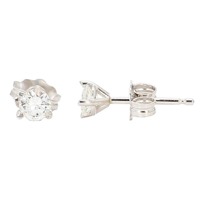 DIAMOND STUDS- 14K WHITE GOLD| 1/3RD CT TDW