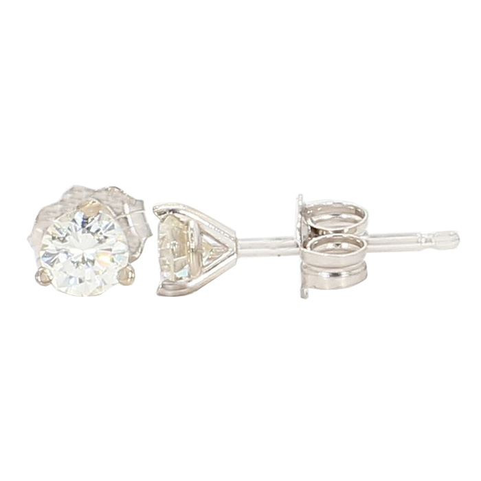 DIAMOND STUDS- 14K WHITE GOLD| 3/8TH CT TDW