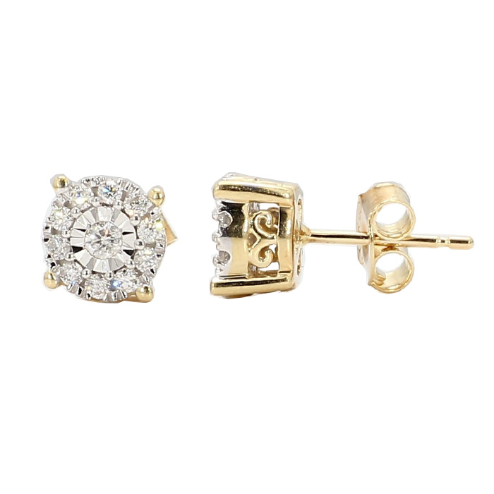 DIAMOND STUD EARRINGS- 14K YELLOW GOLD| 2.4G| 0.50CT TDW