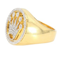 DIAMOND RING- 14K YELLOW GOLD| 14.1G| 0.86CT TDW| SIZE 10.50""