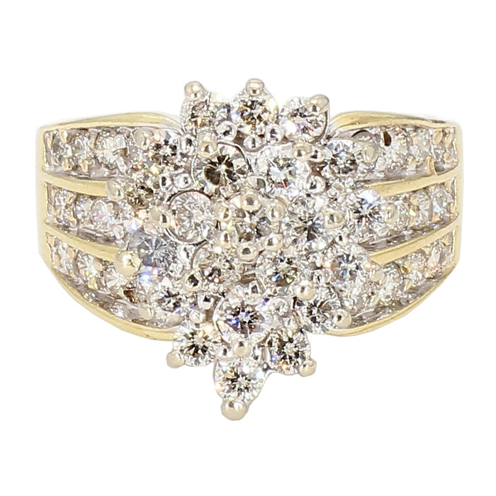 DIAMOND RING- 10K YELLOW GOLD|  7.3G| 2.0CT TDW| SIZE 7""
