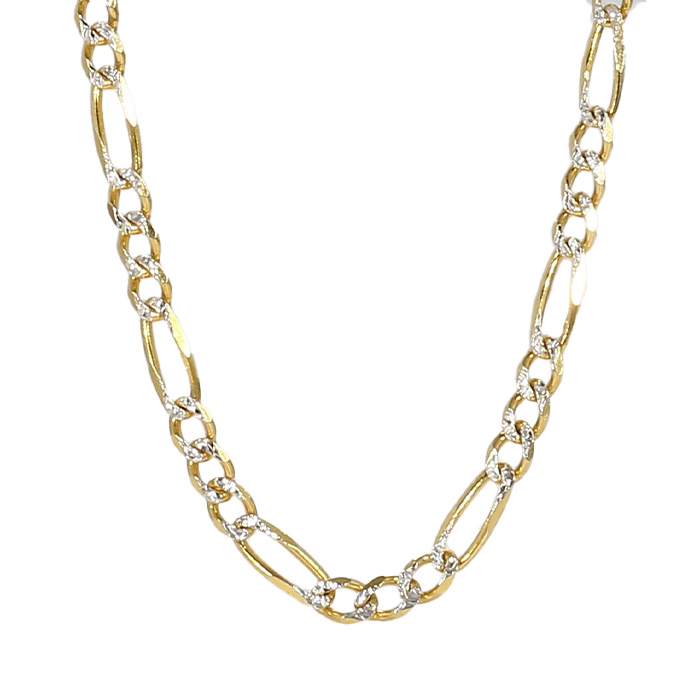 """FIGARO NECKLACE- 14K YELLOW GOLD(2 TONE)