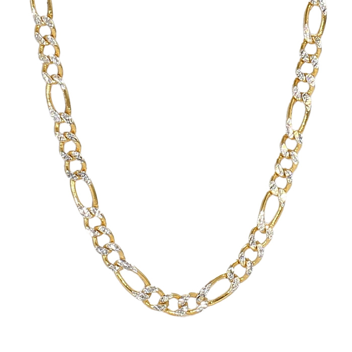 """FIGARO NECKLACE- 14K YELLOW GOLD(2-TONE)