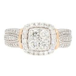 "DIAMOND ENGAGEMENT RING- 14K GOLD| 6.1G| 1.00CT TDW| SIZE 7"""