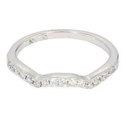 "DIAMOND BAND SET(2)- 10K WHITE GOLD| 3.01G| SIZE 5.50"""