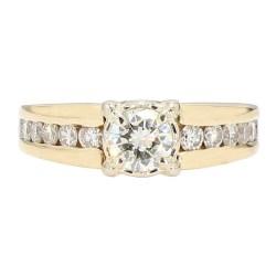 "DIAMOND ENGAGEMENT RING- 14K YELLOW GOLD| 8.3G| 0.60CT(C)| 1.06CT TDW| SIZE 7"""