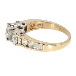 DIAMOND ENGAGEMENT RING- 14K YELLOW GOLD| 5.1G| 2.00CT TDW| SIZE 7.50""