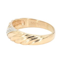 "MENS WEDDING BAND- 14K YELLOW GOLD| 6.9G| SIZE 14.75"""