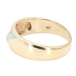 "MENS WEDDING BAND- 14K YELLOW GOLD| 5.7G| SIZE 10"""