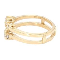 """DIAMOND GUARD- 14K YELLOW GOLD  4.4G  SIZE 7"""""""