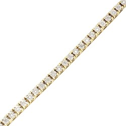 "DIAMOND BRACELET- 10K YELLOW GOLD  11.2G  0.50CT TDW  LENGTH 7.25"""