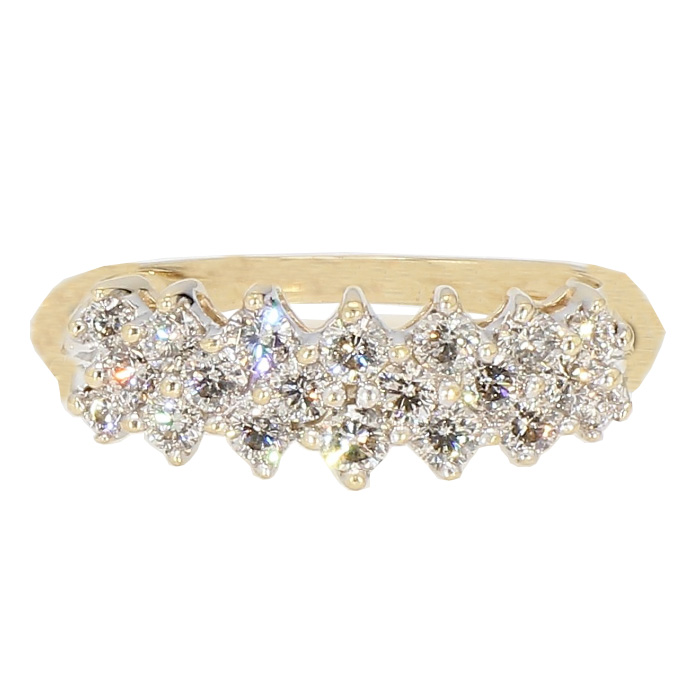 "DIAMOND BAND- 14K YELLOW GOLD| 4.2G| 1.00CT TDW| SIZE 9"""