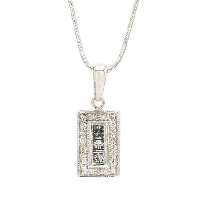 """14K GOLD NECKLACE WITH DIAMOND PENDANT