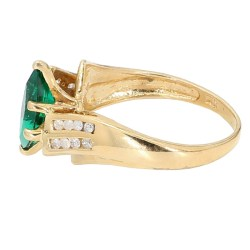 """EMERALD RING- 10K YELLOW GOLD