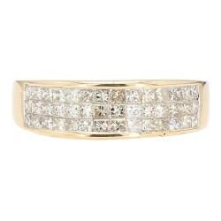 "DIAMOND BAND- 14K YELLOW GOLD| 3.6G| 1.50CT TDW| SIZE 8"""
