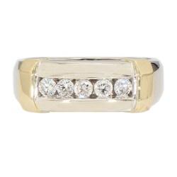 "DIAMOND WEDDING BAND- 14K GOLD| 6.2G| 0.50CT TDW| SIZE 10.50"""
