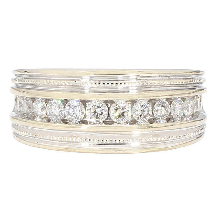 """MENDS DIAMOND BAND- 14K GOLD