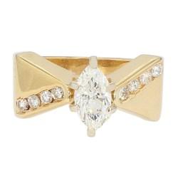 "DIAMOND ENGAGEMENT RING- 14K YELLOW GOLD| 5.3G| 0.75CT(C)| 1.00CT TDW| SIZE 6.50"""
