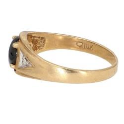 "CAT EYE GOLD RING- 10K YELLOW GOLD| 3.3G| SIZE 10.75"""
