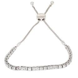 DIAMOND BRACELET- 14K WHITE GOLD  11.5G  2.00CT TDW