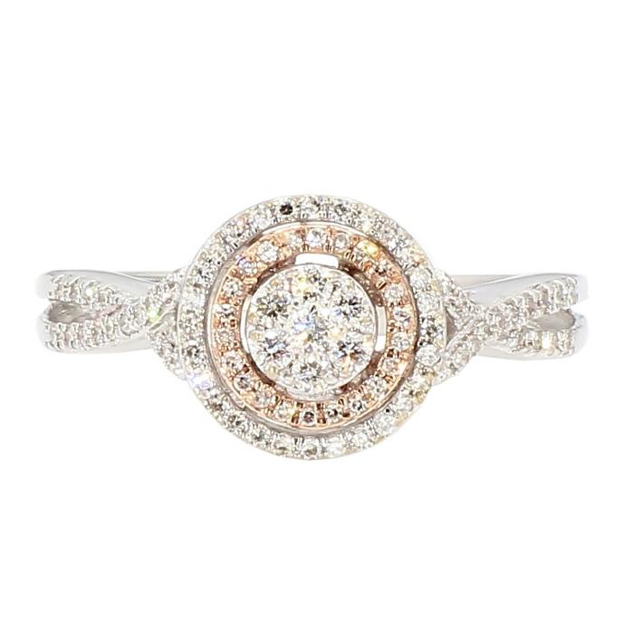 "DIAMOND BRIDAL SET- 10K WHITE GOLD  2.7G  0.50CT TDW  SIZE 7"""