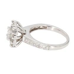 "DIAMOND ENGAGEMENT RING- 14K WHITE GOLD  2.9G  1.00CT TDW  SIZE 3.75"""