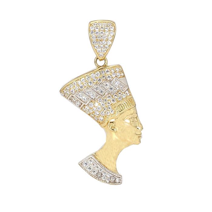 GOLD PENDANT- 10K YELLOW GOLD  4.6G  CUBIC ZIRCONIA