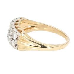 "DIAMOND BAND- 14K YELLOW GOLD  4.7G  1.00CT TDW  SIZE 8.50"""