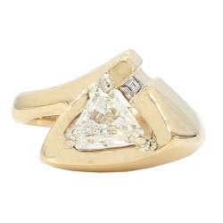 "DIAMOND RING- 14K YELLOW GOLD| 5.8G| 1.01CT TDW| SIZE 5.50"""