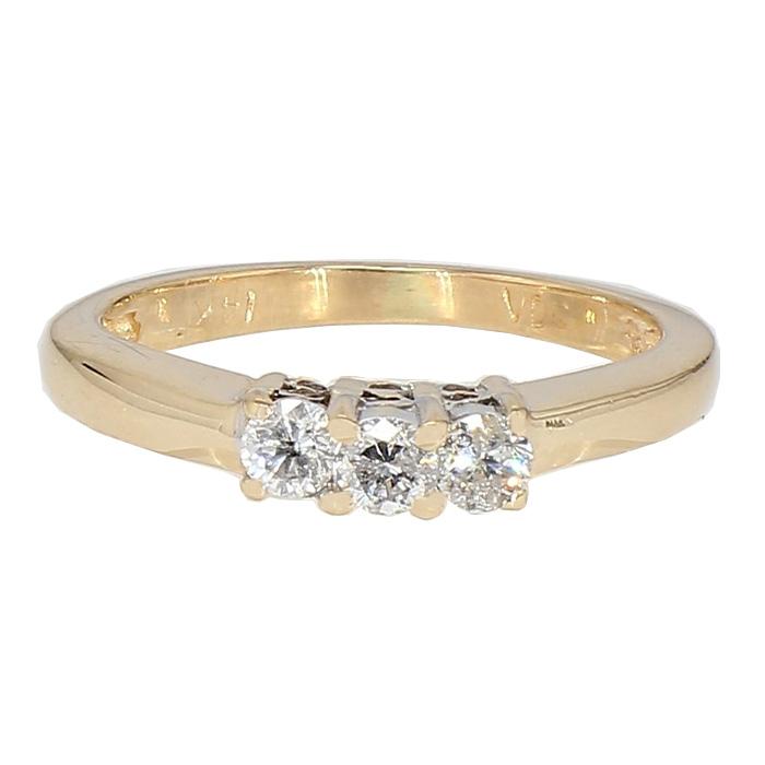 "DIAMOND RING- 14K YELLOW GOLD| 2.5G| 4.25"""