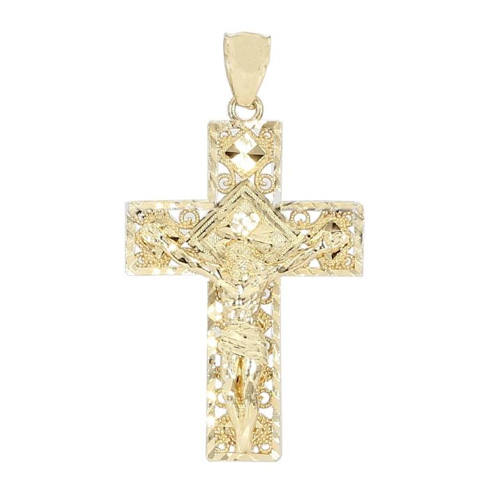 CROSS PENDANT- 10K YELLOW GOLD  3.5G