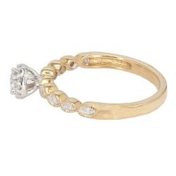 "DIAMOND ENGAGEMENT RING- 10K YELLOW GOLD  2.5G  0.50CT TDW  SIZE 7"""