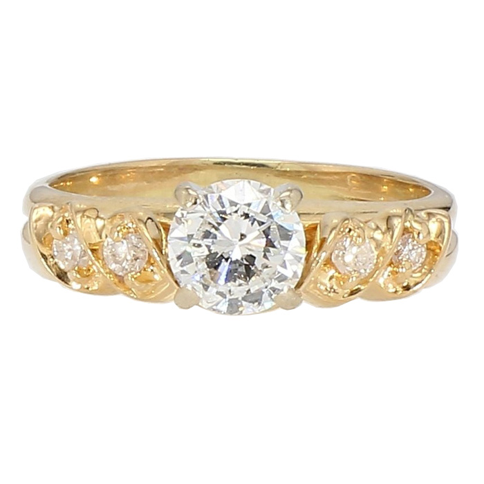 "DIAMOND BRIDAL SET- 14K WHITE GOLD| 3.5G| 0.68CT(C)| 0.75CT TDW| SIZE 5.50"""