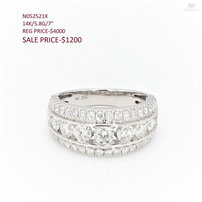 "DIAMOND WEDDING BAND-14K/5.8G/7"""
