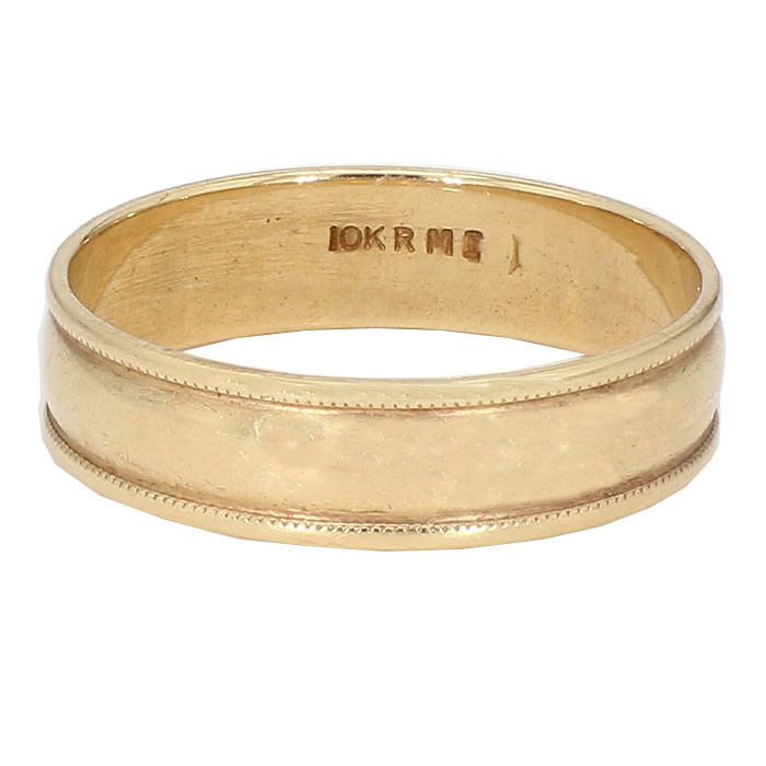 GOLD BAND-10K YELLOW GOLD| 3.9G| SIZE 12.50