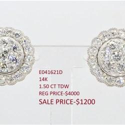 Diamond Stud Earrings  E041621D