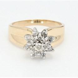 Flower  Diamond  Ring R3180B