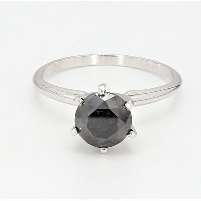 Black  Diamond  Solitaires Ring R8977B