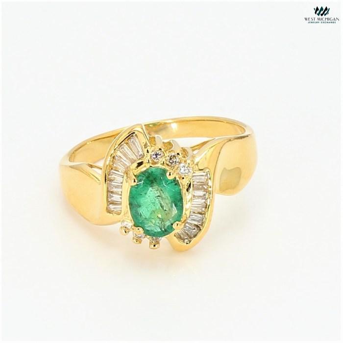 emerald Gem stone Ring   R100821B