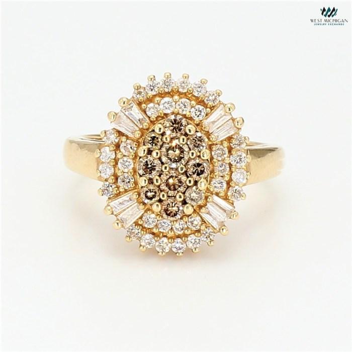 Champagne Baguette Diamond Ring   R12294