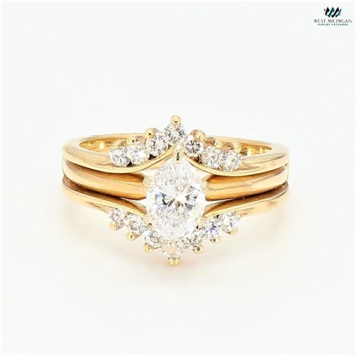 Marquise Diamond Bridal set   R3641B