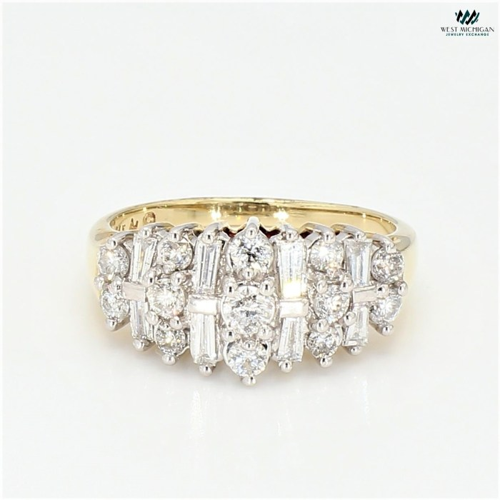 Cluster Diamond with Baguette Ring  R4402