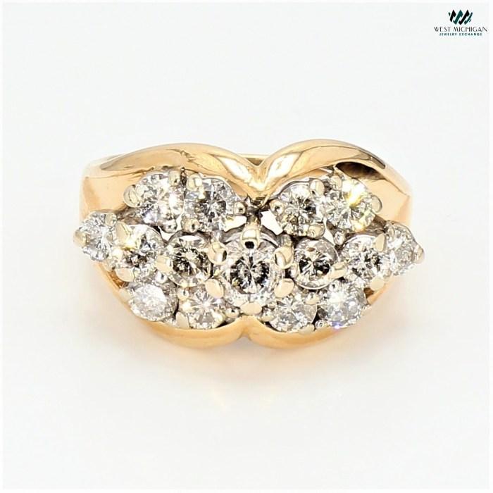 Cluster Diamond  Ring   R6987